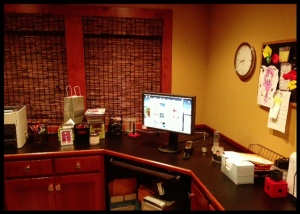 Ta-dah!  My cleaner office!