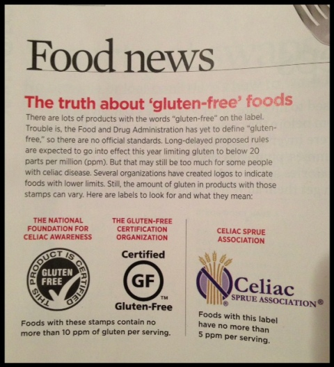 Important news about labeling and Gluten-Free foods.  A perfect example why there needs to be an across the board standard. :)