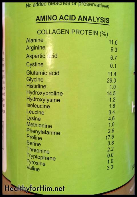 Gelatin is not only important for your digestion {for your immune system} - check out this amino acid profile!  Gelatin rocks!