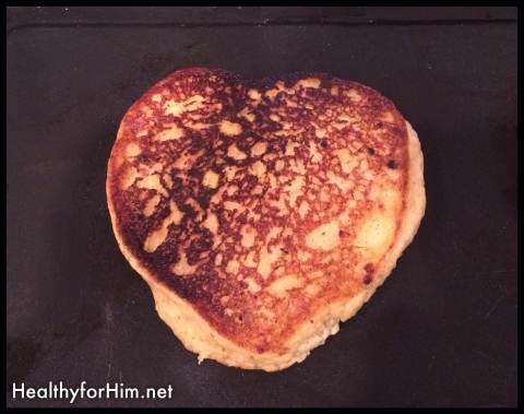 My plantain pancake.  @ Plantains, 3/4 cup of organic applesauce, cinnamon.
